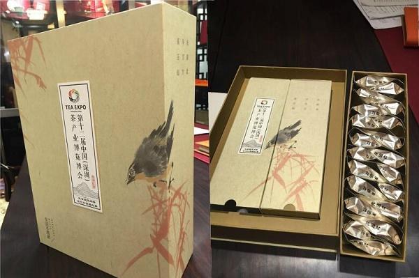 茶博会主办方华巨臣定制荔花村英德红茶茶叶礼品